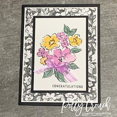 Hand-Penned Petals Congratulations Card